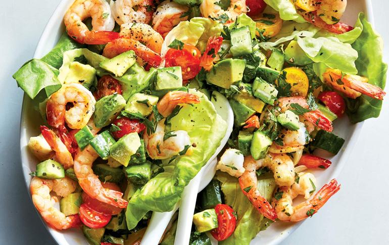 Σαλάτα με γαρίδες και αβοκάντο